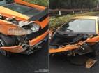 兰博基尼撞上高架护栏 司机弃车逃逸有蹊跷