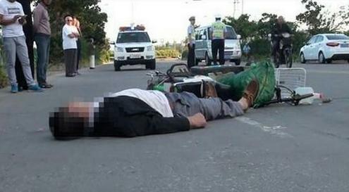 疑因突发疾病 盐城一骑电动车男子突然倒地身亡