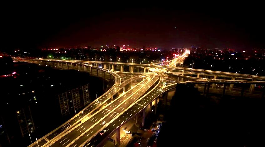 【大美盐城】盐城市区高架夜景航拍首发——纵然世界美景多不胜数 我却独爱我大盐城