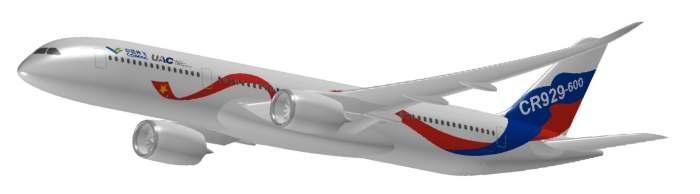 """cr929!真正""""大飞机""""中俄联合远程宽体客机正式命名"""