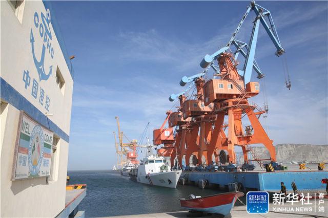 由中巴两国合作建设的巴基斯坦瓜达尔港区(2017年3月22日摄)。新华社记者刘天摄