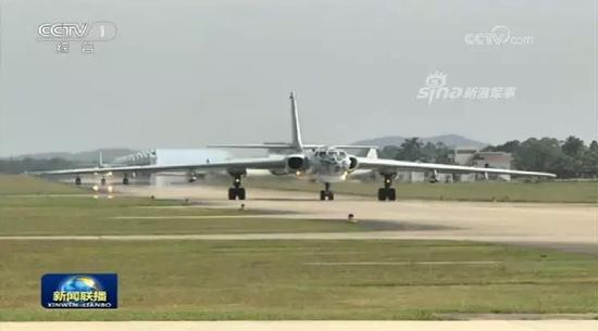 海军航空兵轰-6K战略轰炸机