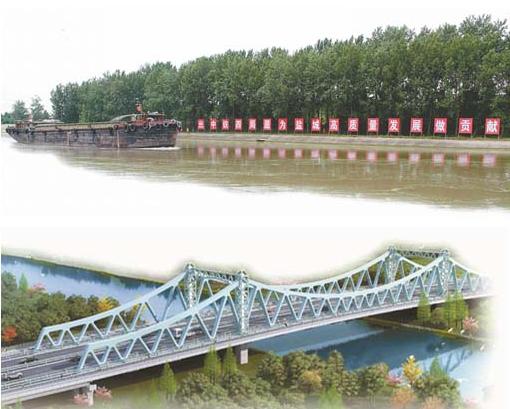 我市最靓地标式景观桥——盐渎路通榆河大桥将于2019年底建成