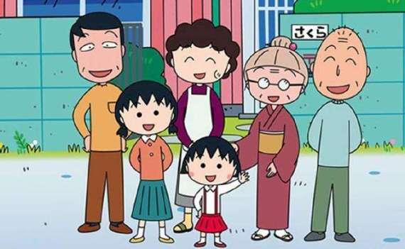 以日本70年代生活为蓝本的国民动画《樱桃小丸子》再现了日本三代人同住一个屋檐下的家庭情景。