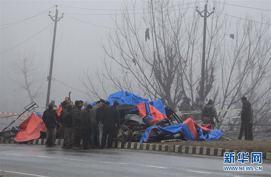 (国际)(1)印控克什米尔地区自杀式袭击?#24405;?#27515;亡人数升至40余人