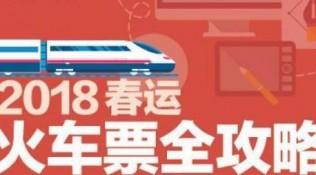 大年节火车票今起开售!2018年春运抢票全攻略
