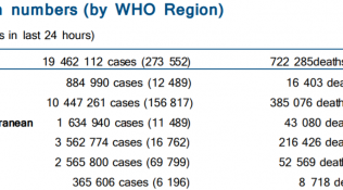 世卫组织:全球新冠肺炎新增273552例