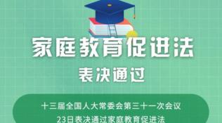 权威快报   @孩子父母,家庭教育促进法表决通过!