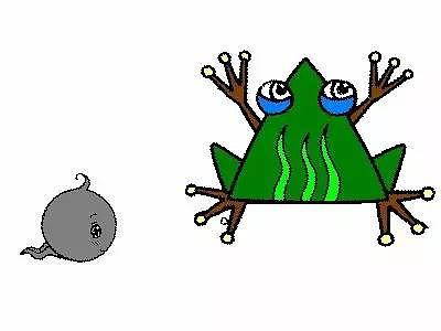 蝌蚪就是青蛙宝宝,它们慢慢长大图片