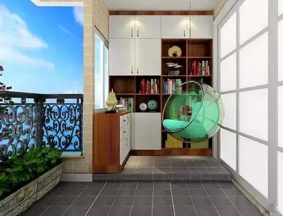 陽臺客廳隔斷柜子