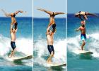 美冲浪双人组高难度托举令人叫绝
