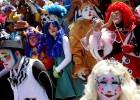 墨西哥办第21届小丑集会 小丑云集尽情狂欢