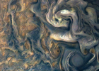 朱诺号拍摄木星表面 蓝色风暴宛如油画