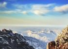 安徽黄山冬雪日出美景如画