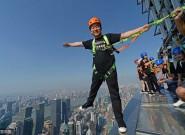 上海340米高空无护栏玻璃步道开放