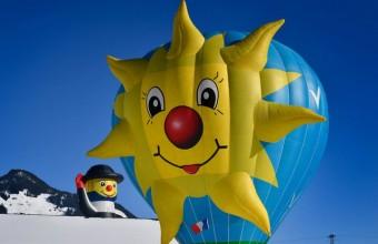 国际热气球节在瑞士代堡开幕 画风清奇